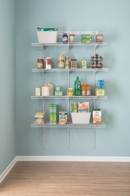 Adjustable ShelfTrack Pantry Organiser Kit 2845, up to 1.2m/4' wide